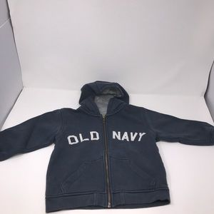Old Navy Boys Hooded Sweatshirt Blue and Gray 4T